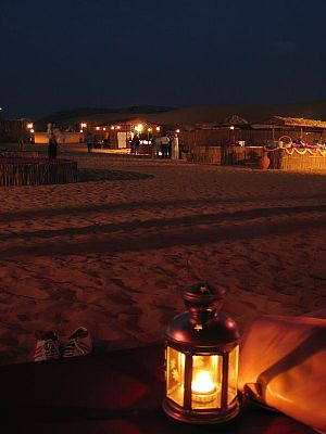 Arabian over-night desert safari camp